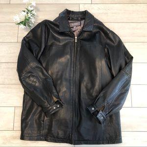 Wilson Leather Men's Black Leather Jacket